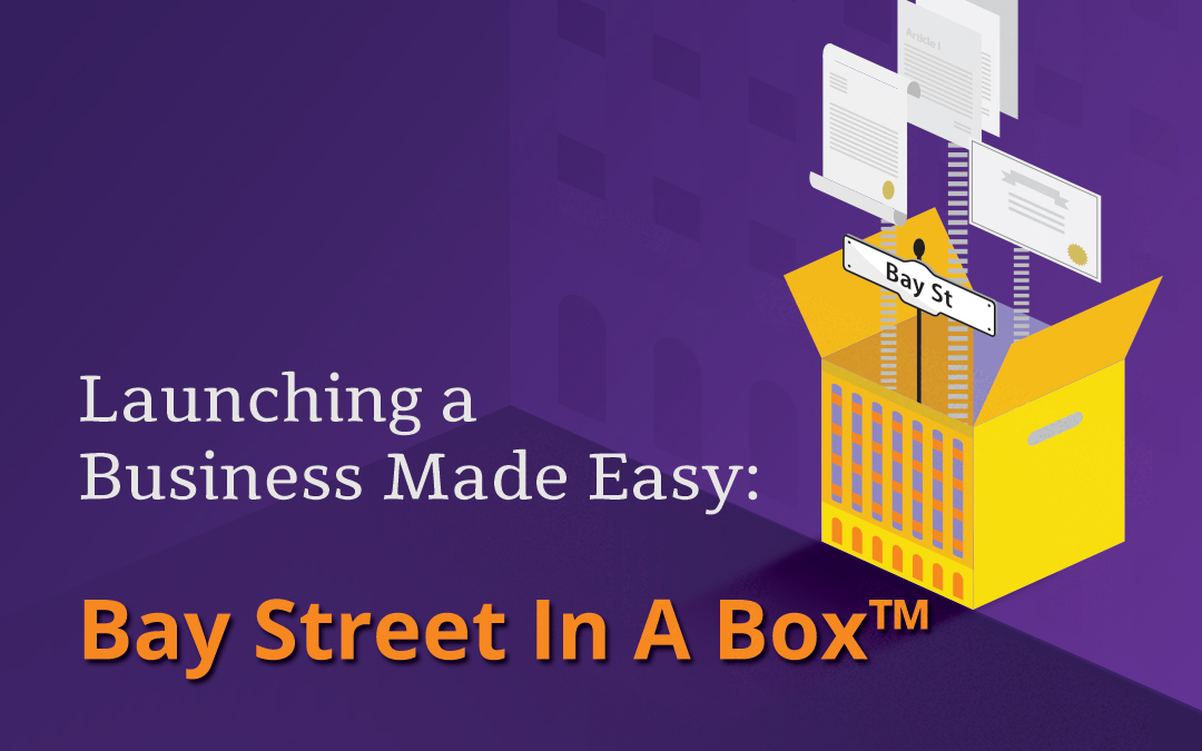 Launching a Business Made Easy: Bay Street In A Box™